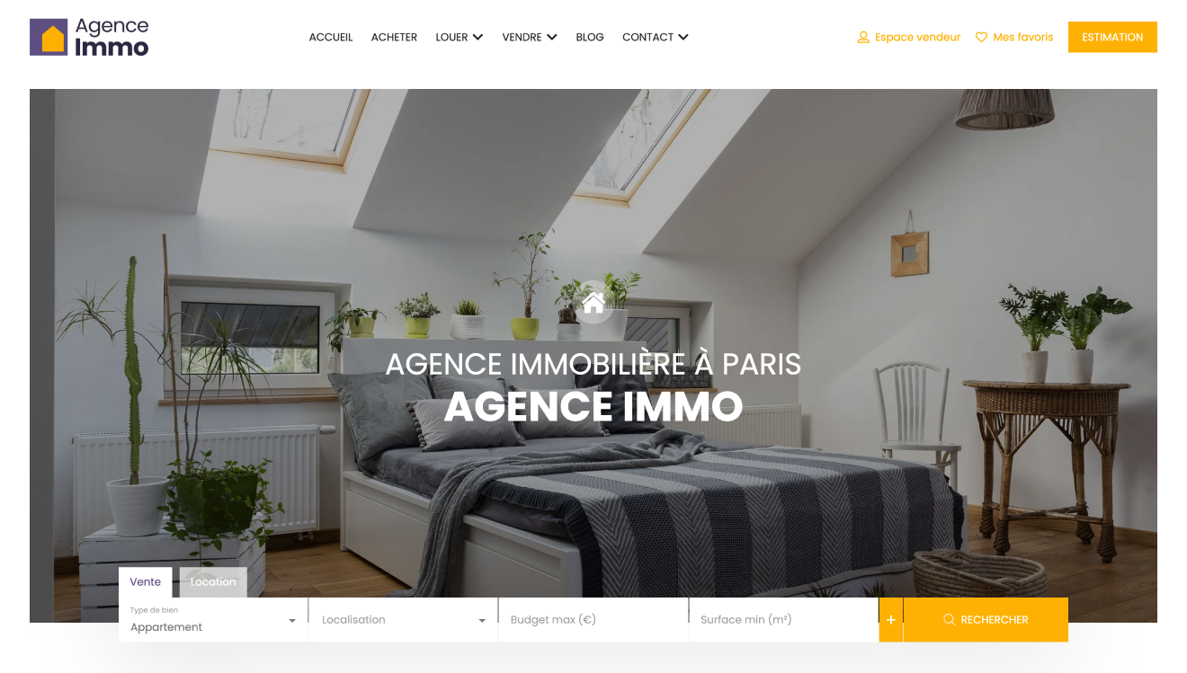 Illustration site immobilier Box