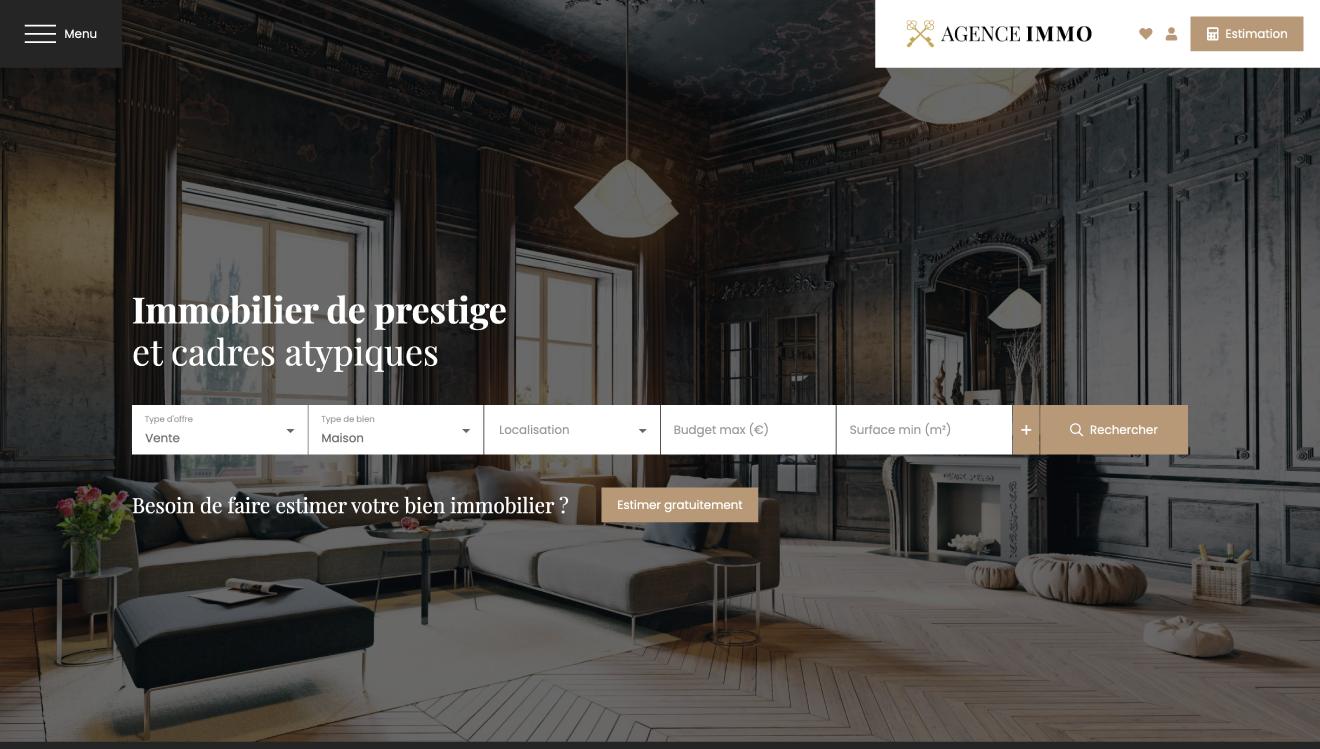 Illustration site immobilier Prestige
