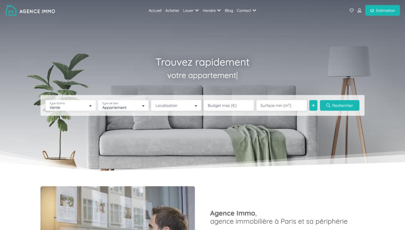 Illustration site immobilier Startup