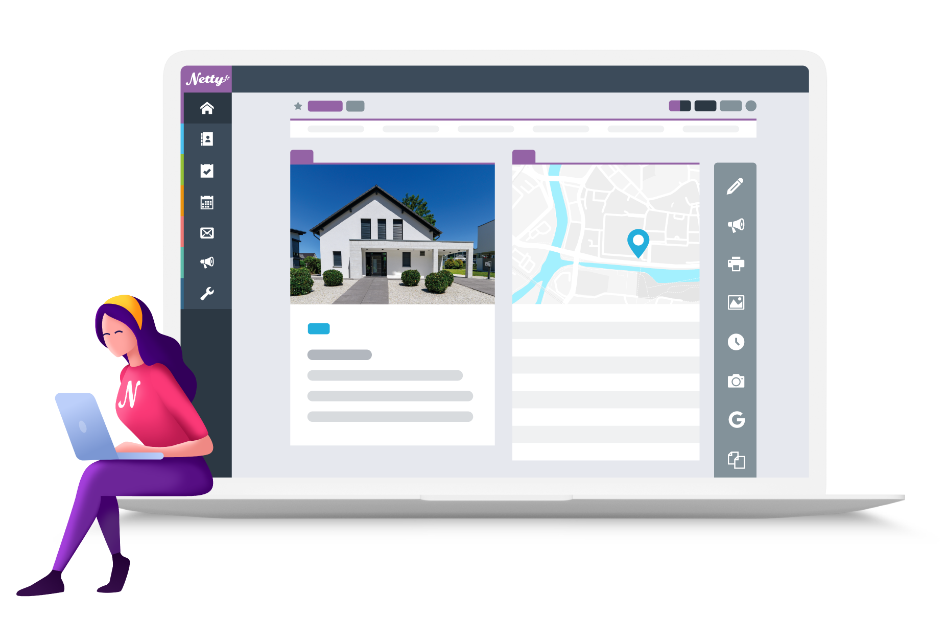 Illustration logiciel immobilier Netty