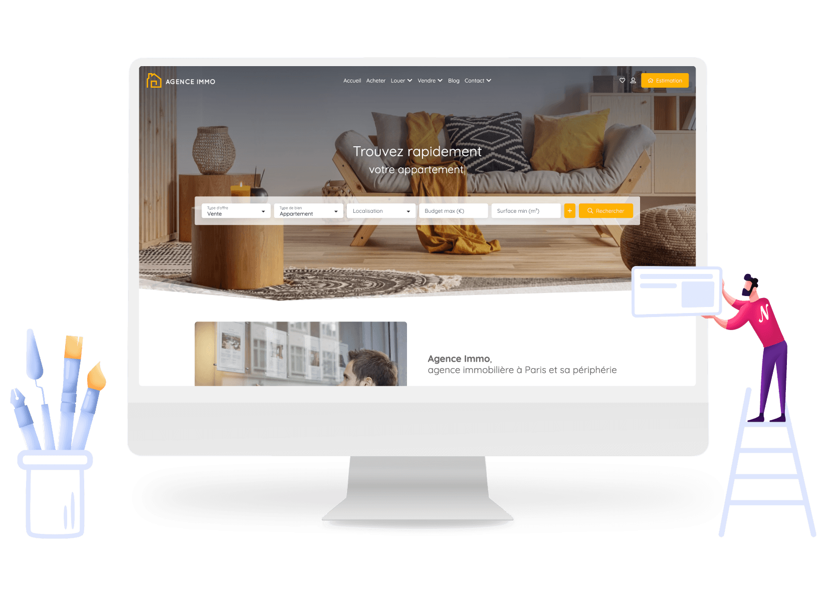 Sites web immobiliers